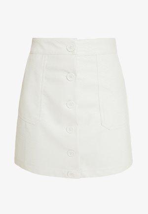 SNAKE SKIRT - A-linjekjol - white