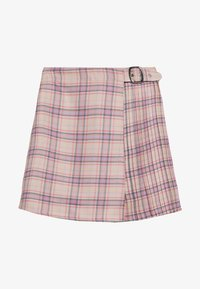 Lost Ink - PLEAT DETAIL CHECKED SKIRT - Minigonna - multi coloured - 0