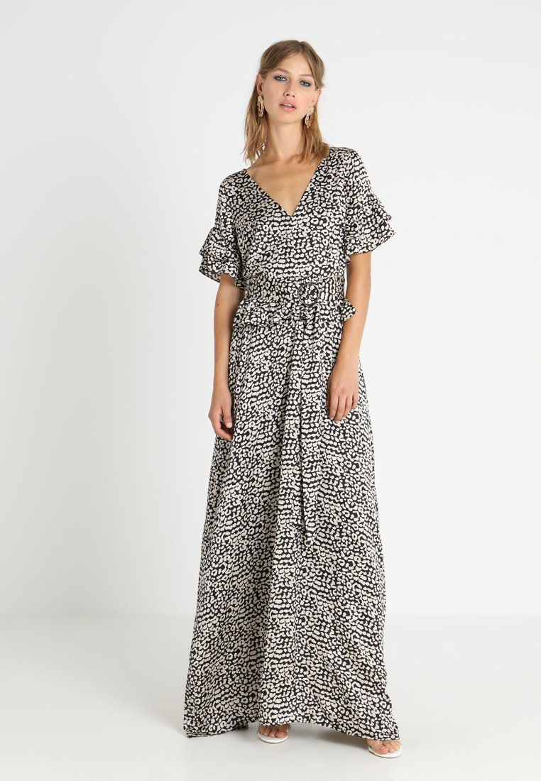 Lost Ink - PRINTED DRESS WITH BELT - Maxi dress - multi