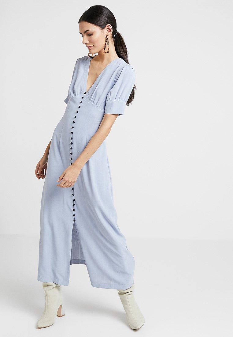 Lost Ink - BUTTON THROUGH DRESS - Maxikleid - light blue