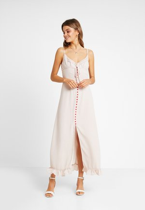 SLIP DRESS WITH TRIM - Maxi šaty - light pink