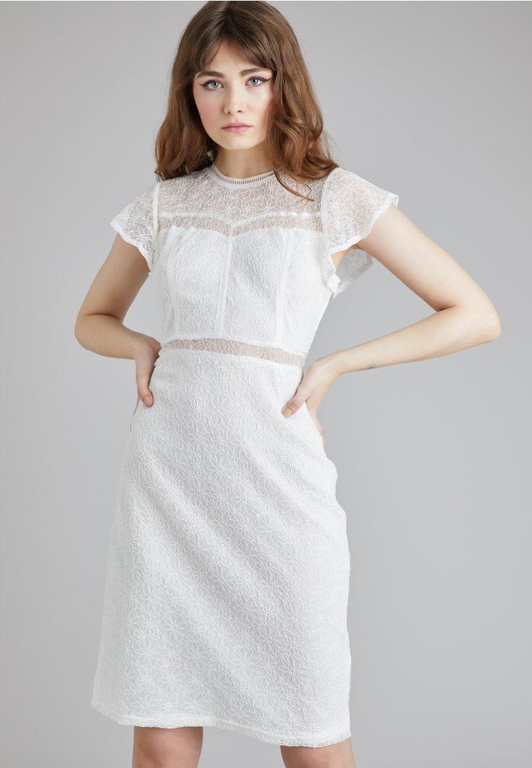 Lost Ink - Denní šaty - white
