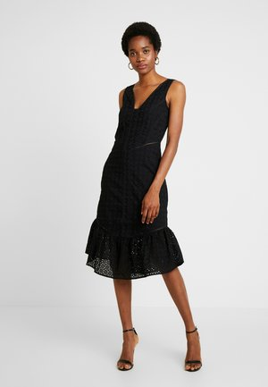 COLUMN DRESS IN BRODERIE - Vestido de cóctel - black