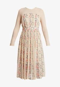 Lost Ink - MULTI FIT AND FLARE DRESS - Robe de soirée - pink - 4