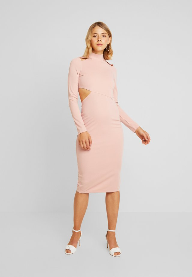 MULTI CUT OUT BODYCON DRESS - Sukienka etui - pink