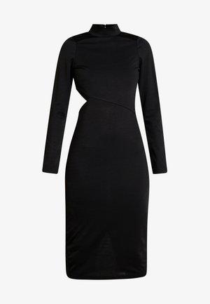 MULTI CUT OUT BODYCON DRESS - Shift dress - black