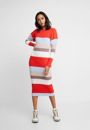 PUFF SLEEVE STRIPE DRESS - Jumper dress - multi