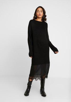 TASSEL DRESS - Robe pull - black