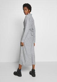 Lost Ink - TIE WAIST DRESS - Jumper dress - grey - 2