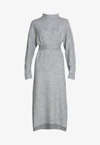 Lost Ink - TIE WAIST DRESS - Jumper dress - grey - 5