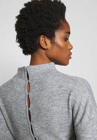 Lost Ink - TIE WAIST DRESS - Jumper dress - grey - 4