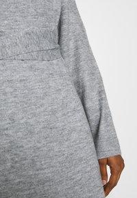 Lost Ink - TIE WAIST DRESS - Jumper dress - grey - 6