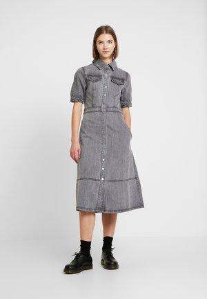 DRESS - Denim dress - grey