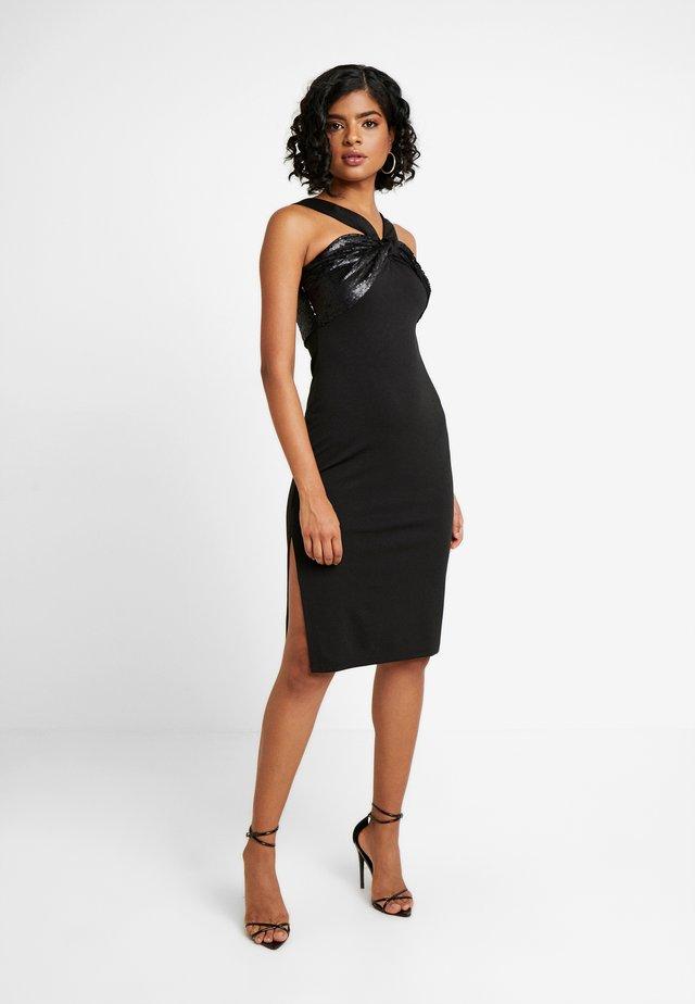 BUST BODYCON DRESS - Sukienka koktajlowa - black