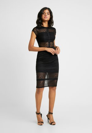INSERT BODYCON DRESS - Vestido de cóctel - black