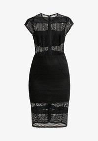 Lost Ink - INSERT BODYCON DRESS - Cocktailjurk - black - 5