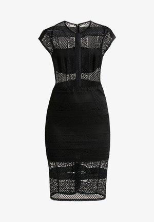 INSERT BODYCON DRESS - Sukienka koktajlowa - black