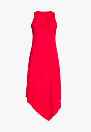 KEYHOLE DETAIL HEM DRESS - Robe en jersey - red