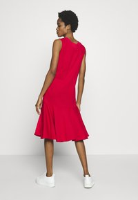 Lost Ink - LESS FRILL WITH POCKETS - Denní šaty - red - 2