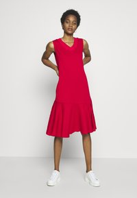 Lost Ink - LESS FRILL WITH POCKETS - Denní šaty - red - 1