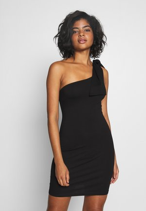 TIE SHOULDER DETAIL BODYCON DRESS - Sukienka koktajlowa - black
