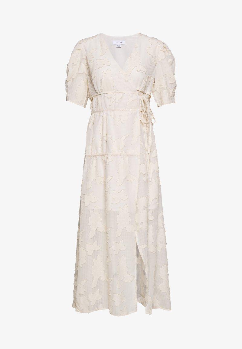 Lost Ink - TEXTURED WRAP MIDI DRESS - Długa sukienka - cream