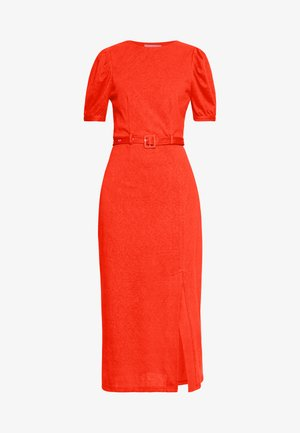 BELTED MIDI DRESS - Jerseyjurk - orange