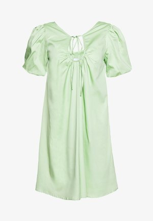 PLUNGE NECK VOLUME MINI  - Kjole - green