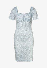 Lost Ink - PRINTED V NECK MINI DRESS - Jersey dress - multi - 0