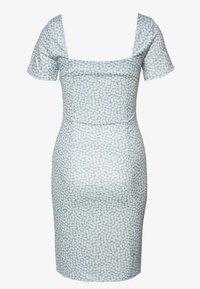 Lost Ink - PRINTED V NECK MINI DRESS - Jersey dress - multi - 1