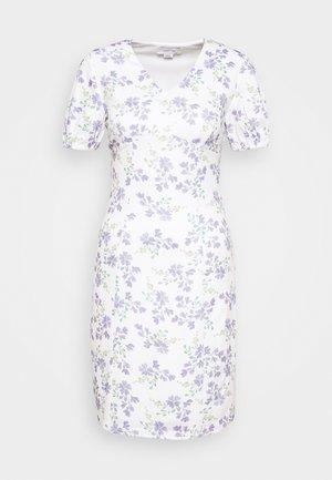 PRINTED V NECK MINI DRESS - Jerseyklänning - multi