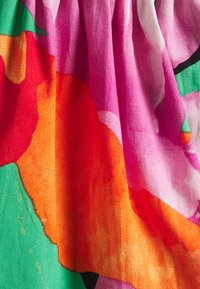 Lost Ink - PUFF SLEEVE OPEN BACK PRINTED MIDI DRESS - Day dress - multi - 2
