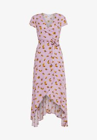 Lost Ink - FLORAL WRAP MIDAXI DRESS - Maxi dress - purple - 0