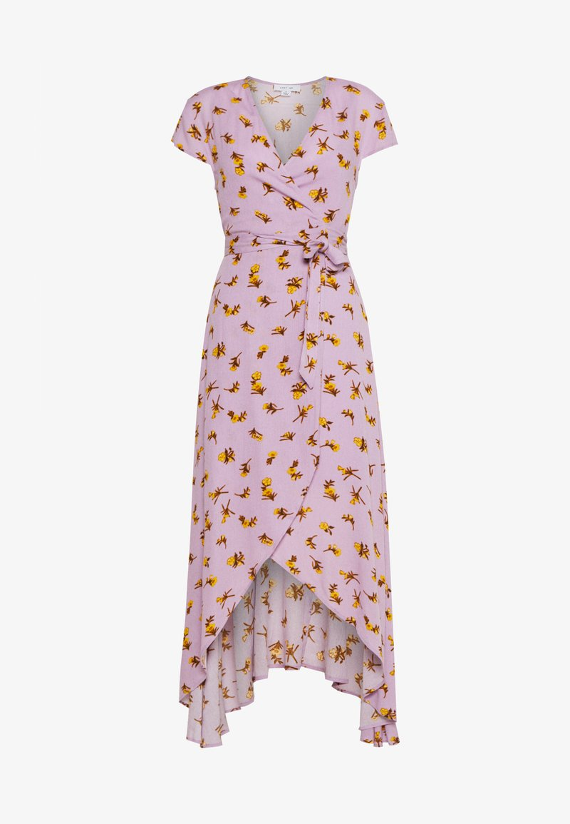 Lost Ink - FLORAL WRAP MIDAXI DRESS - Maxi dress - purple