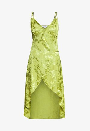 JACQUARD WRAP STRAPPY MIDI DRESS - Korte jurk - green