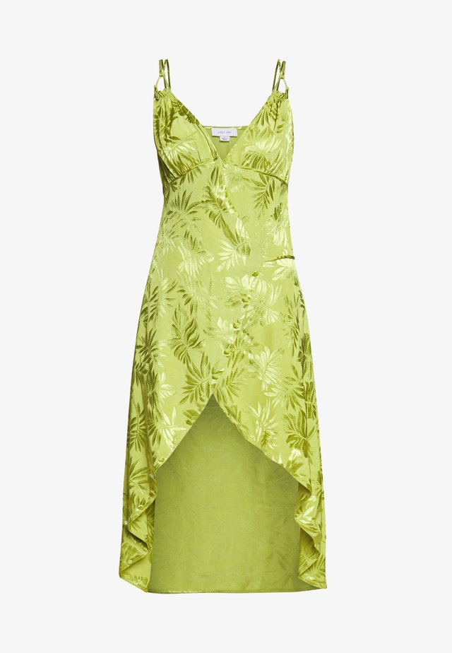 JACQUARD WRAP STRAPPY MIDI DRESS - Kjole - green