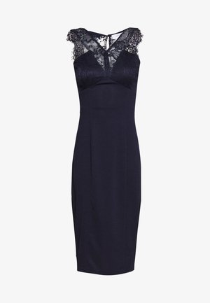 BODYCON MIDI DRESS - Vestido de tubo - navy
