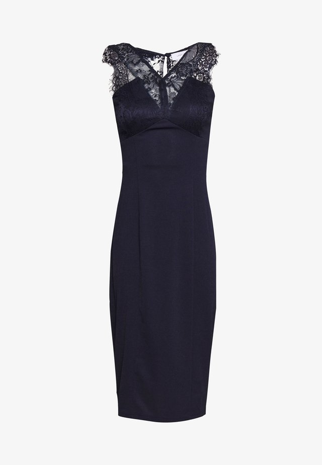 BODYCON MIDI DRESS - Sukienka etui - navy