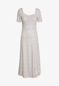 Lost Ink - MONO PRINT FRONT SPLIT SHORT SLEEVE DRESS - Žerzejové šaty - off-white, black - 0