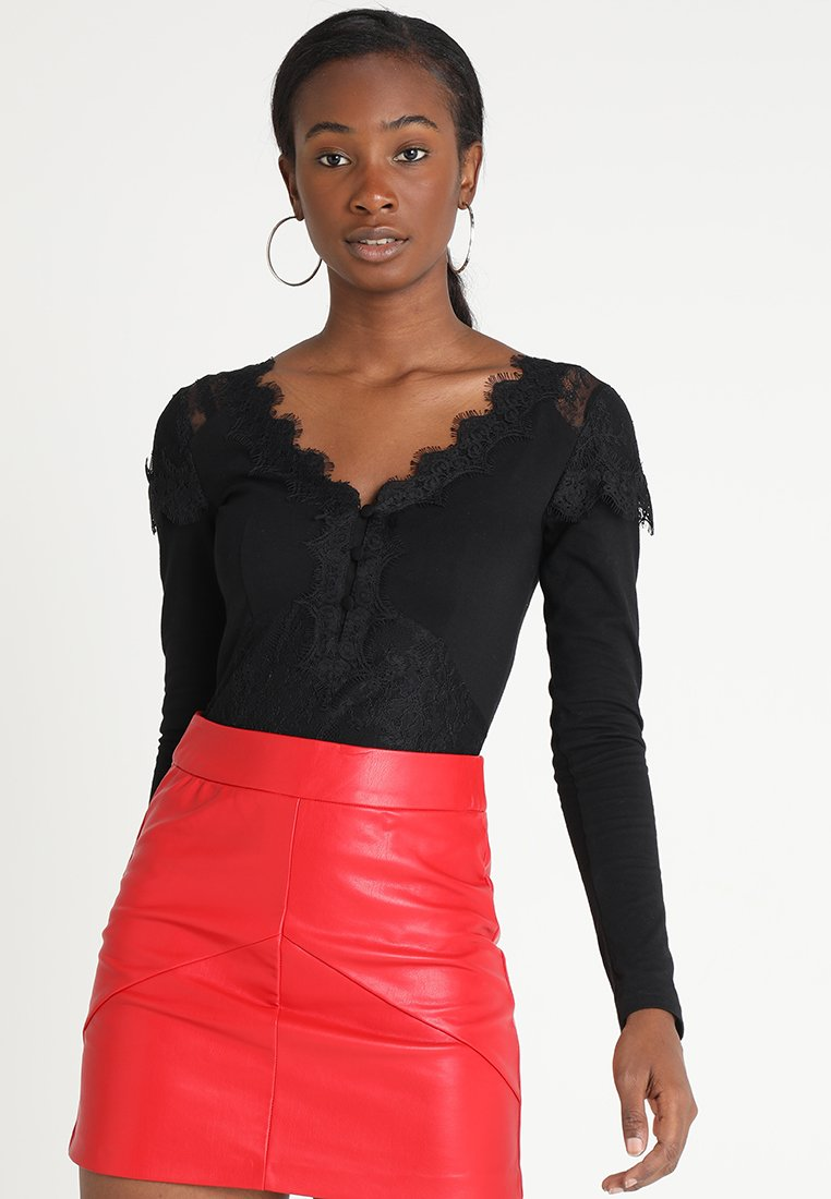 Lost Ink - BODY IN MIX - Long sleeved top - black