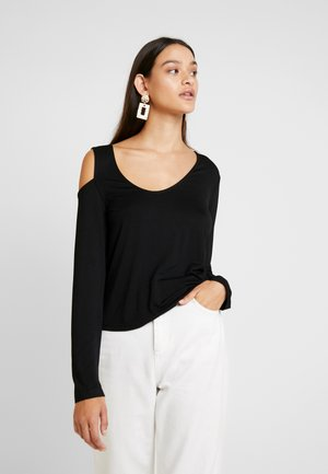 WITH CUT OUT SHOULDER - Long sleeved top - black