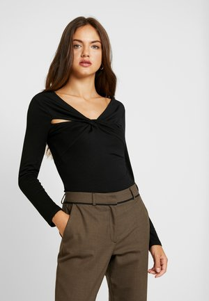 BODY WITH CUT OUT DETAIL - Long sleeved top - black