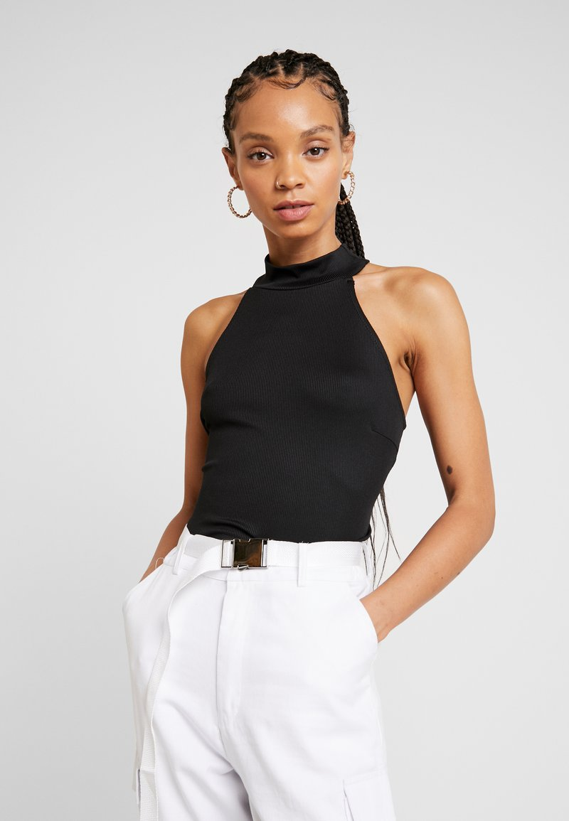 Lost Ink - HIGH NECK BODY - Top - black