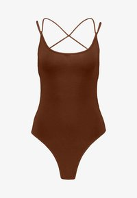 Lost Ink - STRAPPY BODYSUIT - Top - brown - 4