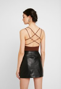 Lost Ink - STRAPPY BODYSUIT - Top - brown - 2