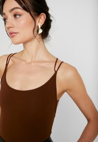 Lost Ink - STRAPPY BODYSUIT - Top - brown - 3
