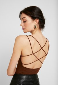 Lost Ink - STRAPPY BODYSUIT - Top - brown - 5
