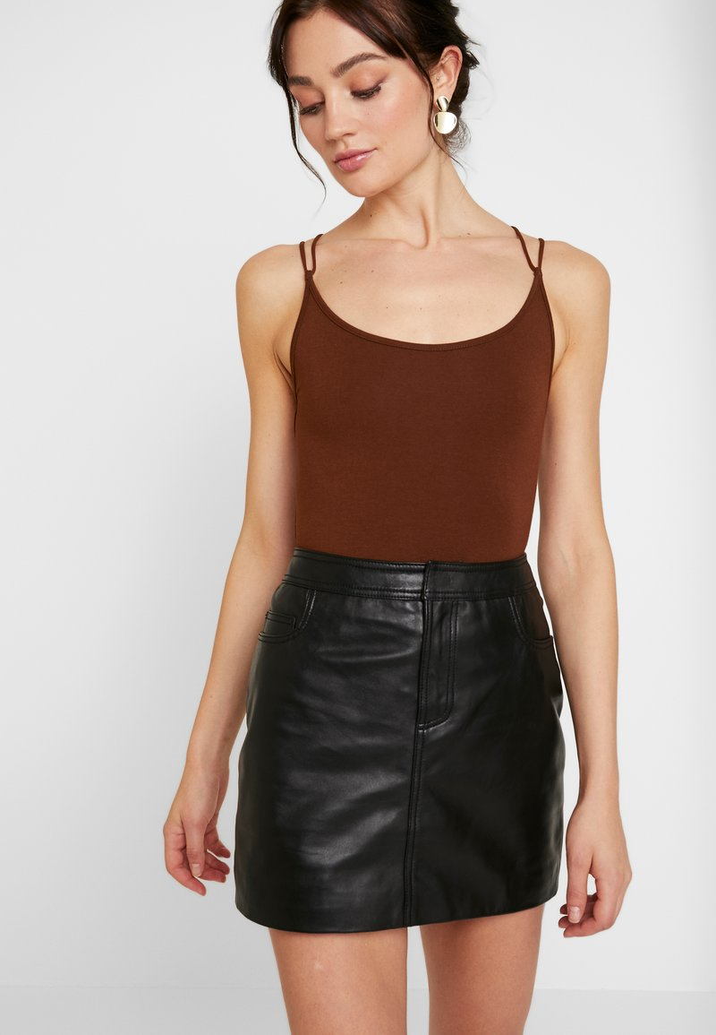 Lost Ink - STRAPPY BODYSUIT - Top - brown