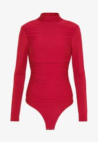 Lost Ink - RUCHED DETAIL LONG SLEEVE - Longsleeve - red - 4