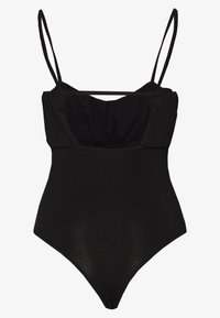 Lost Ink - RUCHED BUST STRAPPY BODYSUIT - Body - black - 1